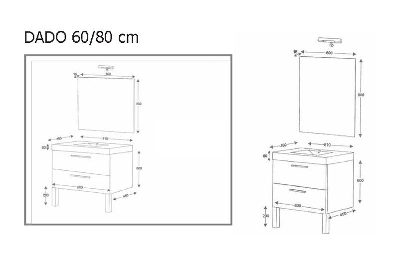 Migo world s l muebles - Muebles de bano medidas ...